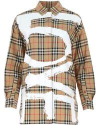 Burberry Love Print Check Shirt - Multicolour
