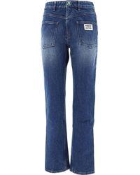 Burberry Straight Leg Jeans - Blue