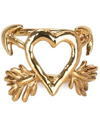 Givenchy Heart And Arrow Ring - Metallic