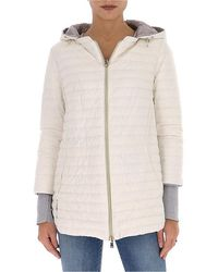 Herno Reversible Hooded Down Coat - White