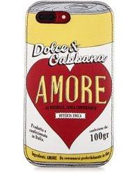 Dolce & Gabbana Multicolour Amore Print Leather Iphone 7 Case