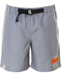 Heron Preston Belted Reflector Effect Shorts - Grey