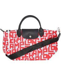 Longchamp Le Pliage Lgp Small Top Handle Bag - Red