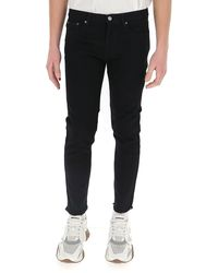 Givenchy Raw Hem Skinny Jeans - Black