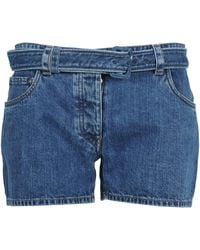 Prada Belted Shorts - Blue