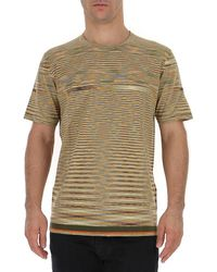 Missoni Contrasting Stripes Knitted T-shirt - Multicolour