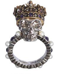 d98c8ef5e72b8 Skull Swarovski Ring