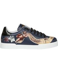 Dolce & Gabbana - Painted Sneakers - Lyst