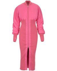 Ambush Long Bomber Jacket - Pink