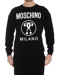 Moschino Double Question Mark Sweatshirt - Black