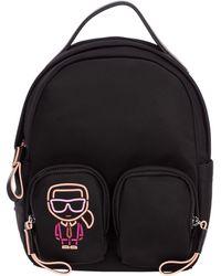 Karl Lagerfeld Rucksack Backpack Travel K/ikonik Biarritz - Black
