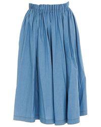 Marni Pleated Midi Skirt - Blue