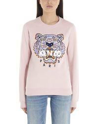 KENZO Tiger Logo-embroidered Sweatshirt - Pink