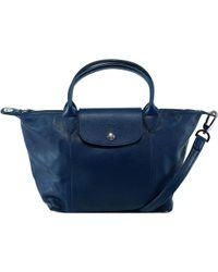 Longchamp - Le Pliage Cuir Tote Bag - Lyst