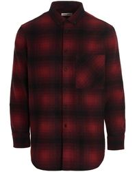 Saint Laurent Checked Flannel Shirt - Red