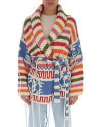 Alanui Amarillo Belted Wrap Cardigan - Multicolour