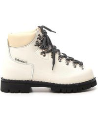 Proenza Schouler Lace-up Hiking Ankle Boots - White