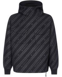 Givenchy Chain Logo Jacquard Hoodie - Multicolour