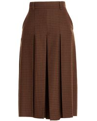 Weekend by Maxmara Abbono Pleated Cropped Pants - Brown