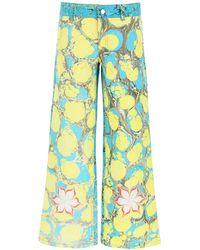 Chopova Lowena Multicolour Denim Jeans - Blue