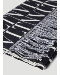 Valentino Monogram Jacquard Fringed Scarf - Multicolour