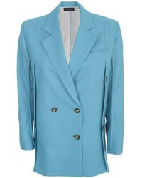 Eudon Choi Double-breasted Tailored Blazer - Blue