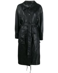 Low Classic Belted Trench Coat - Black
