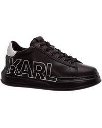 Karl Lagerfeld Women's Shoes Leather Trainers Trainers Kapri - Black
