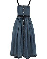 RED Valentino Denim Dress - Blue