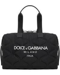 Dolce & Gabbana Logo Duffle Bag - Black