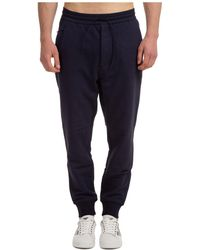 Y-3 Classic Terry Cuffed Jogger Pants - Blue
