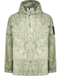 Stone Island Hooded Anorak Pullover - Green