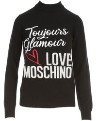Love Moschino Logo Intarsia Jumper - Black