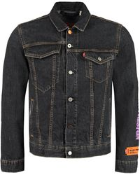 Heron Preston Denim Jacket - X Levi's - Black