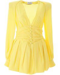 The Attico Crepe Mini Dress - Yellow