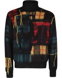 JW Anderson Patchwork Turtleneck Sweater - Multicolor