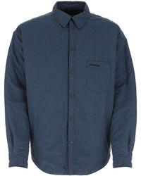 Balenciaga Padded Oversized Shirt - Blue