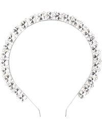 Alessandra Rich Crystal-embellished Detail Headband - Metallic