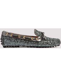 Car Shoe Glittered Driving Loafers Eu 36 - Metallic