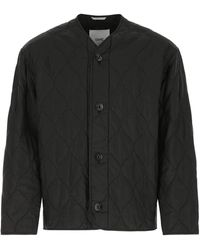 OAMC Quilted Buttoned Jacket - Black