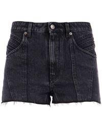 Givenchy Frayed Denim Shorts - Black