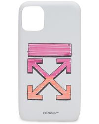 Off-White c/o Virgil Abloh Arrows Printed Iphone 11 Pro Max Case - White