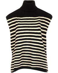Barena High-neck Knit Sleeveless Sweater - Black