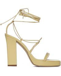 Paris Texas Carine Leather Platform Sandals - Metallic