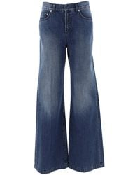 Dior Flared Wide Leg Jeans - Blue