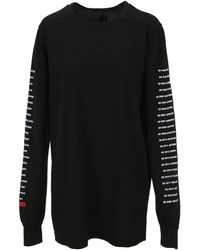 Rick Owens DRKSHDW Graphic Print Long-sleeved T-shirt - Black