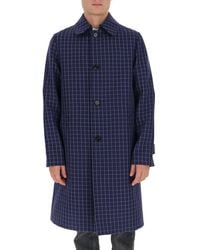 Marni Single Breasted Longline Jacket - Blue