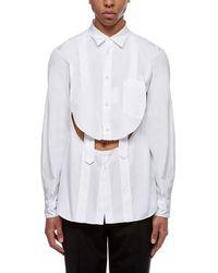 Comme des Garçons Cut-out Shirt - White