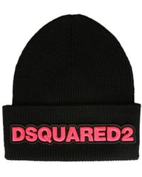 DSquared² Knitted Hat - Black