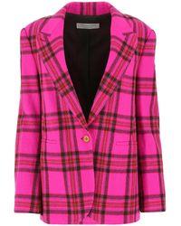Philosophy Di Lorenzo Serafini Plaid Single-breasted Blazer - Pink